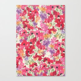 Big Red Poppy Patch Canvas Print