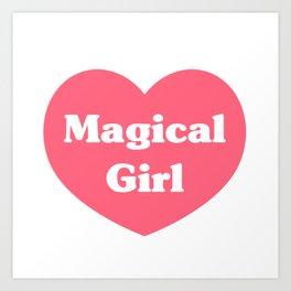Heart Magical Girl Art Print