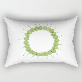 Green Wildflower Circle Rectangular Pillow