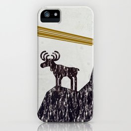 raindeer waiting one iPhone Case