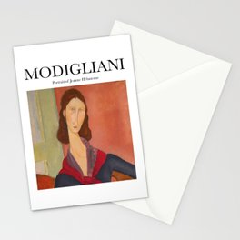 Modigliani - Portrait of Jeanne Hebuterne Stationery Cards