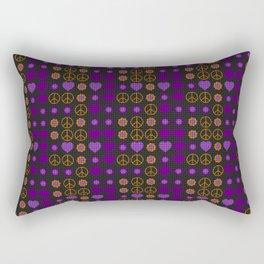 Halloween Peace Holiday Weave Rectangular Pillow