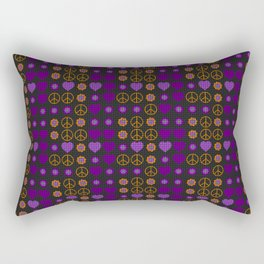 Halloween Peace Holiday Weave Rectangular Pillow