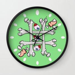 Halloween Tic Tac Toe Wall Clock