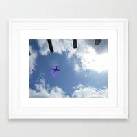plane Framed Art Prints featuring plane by Dottie