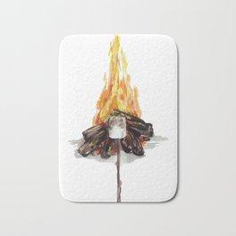 Campfire, Smore, Marshmallow Roasting, Camping Bath Mat