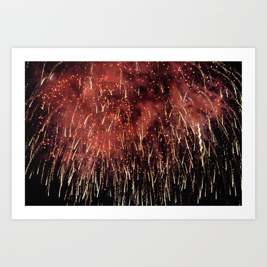 SPARKLING FIREWORK EXPLOSION Art Print
