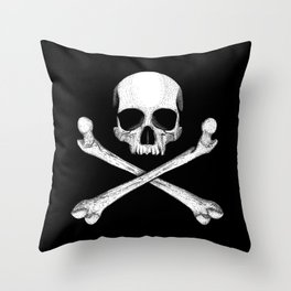 Jolly Roger - Pirate Hatching Throw Pillow