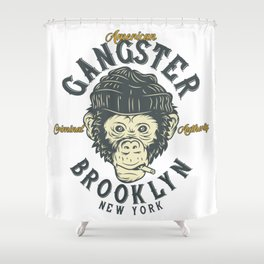 Gangster Brooklyn Shower Curtain