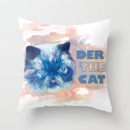 Derpy cat Throw Pillow