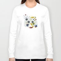 xbox Long Sleeve T-shirts featuring Controller Graffitti XBOX by AngoldArts