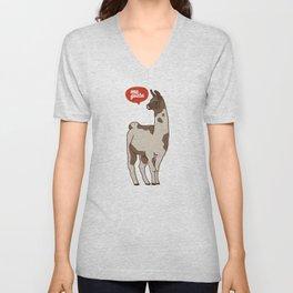 the llama me gusta! Unisex V-Neck