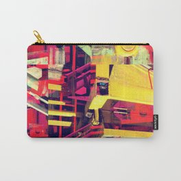 Industrial Abstract Red Carry-All Pouch