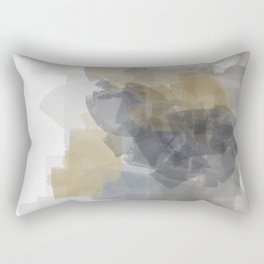 Grey Introspective in a white room Rectangular Pillow