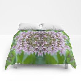 Kaleidoscope Pink Milkweed Flower Macro Photograph Comforters