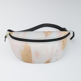 Pastel Pink, Gold, and Blue Minimal Painting  - Fanny Pack