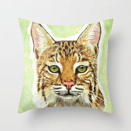 Noel Bobcat - Run Free Throw Pillow