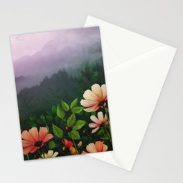 The Brighter Side Of The Dark Mountains Stationery Cards