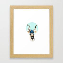 Hipster Kudu Framed Art Print