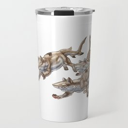Black Tip Shark Cat Kittens :: Series 2 Travel Mug