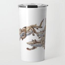 Black Tip Shark Cat Kittens :: Series 2 Travel Mug
