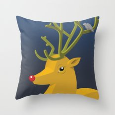 Reindeer's Strike Throw Pillow