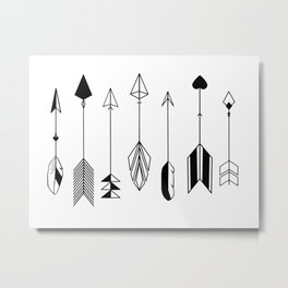 Be Brave Little Arrow Metal Print
