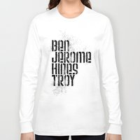 caleb troy Long Sleeve T-shirts featuring Ben Jerome Hines Troy / Gold by Brian Walker