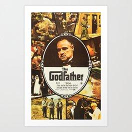 The Godfather, vintage movie poster Art Print