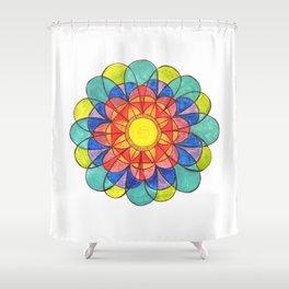 Rainbow Mandala Shower Curtain