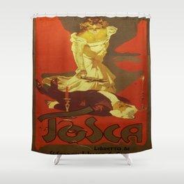 Vintage poster - Tosca Shower Curtain
