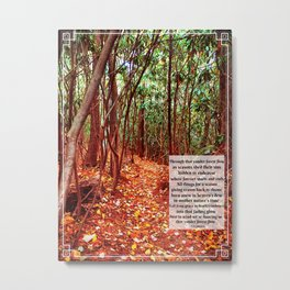 Yonder Forest Flow Metal Print
