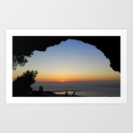 Greek Sunset Art Print
