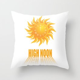 High Noon - Alternative Movie Poster Throw Pillow