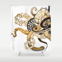 Metallic Octopus Shower Curtain