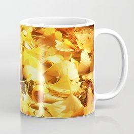 Golden Ginkgo Leaves Coffee Mug