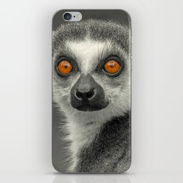 LEMUR PORTRAIT iPhone Skin