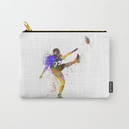 american football player man kicker kicking Carry-All Pouch