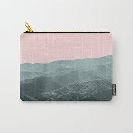 Mountains Pink + Green - Nature Photography Carry-All Pouch