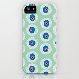 Evil Eye Charm - Hemlock  iPhone Case
