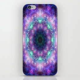 Trippy Purple Deep Space Mandala iPhone Skin