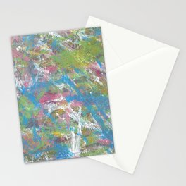 Color and Movement Abstract Art Stationery Cards