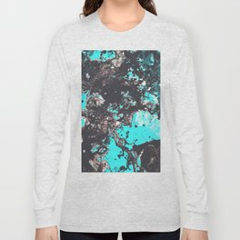 Light Blue Marbled View Long Sleeve T-shirt