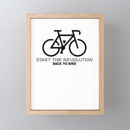 Start The Revolution Back To Bike Framed Mini Art Print