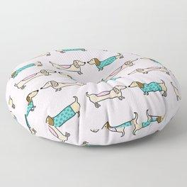 Cute dachshunds Floor Pillow