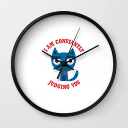 Constantly Judging Wall Clock