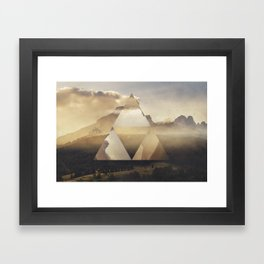 Hyrule - Power of the Triforce Framed Art Print
