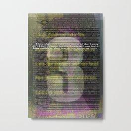 3 Metal Print