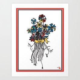 Bouquet - Skal Art Print