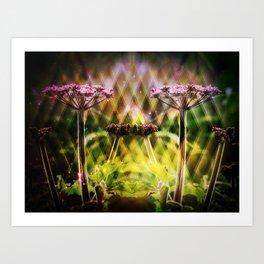 Freaky Plant  Geometric Art Print